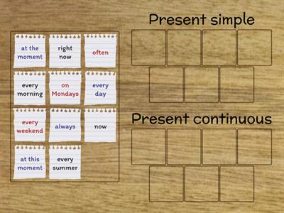 Present simple or continuous?