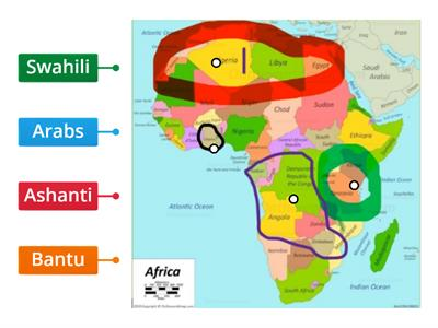 Where African ethnic groups live