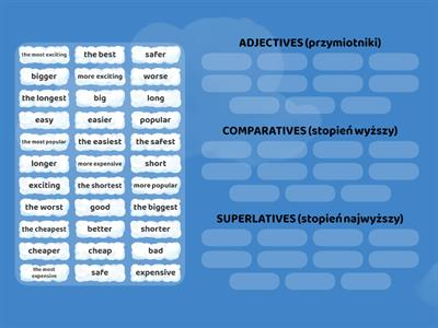Brainy 5 comparatives superlatives