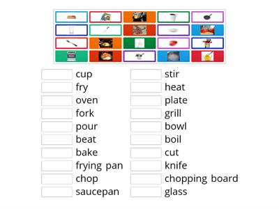 Food Vocabulary Match Up