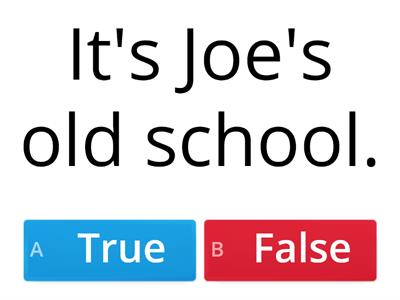 AS3 Joe's new school