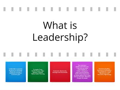 Leadership Lesson Delivery - Flip Tiles