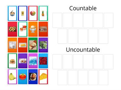 Countable and Uncountable Food
