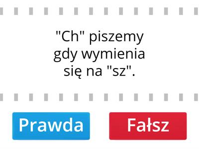 "Pisownia ""CH"""