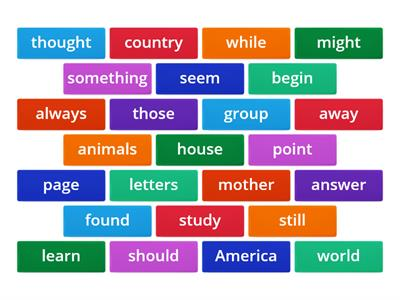 High Frequency Words VL