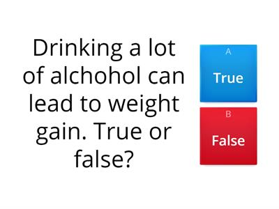 Alcohol quiz for HSC L2
