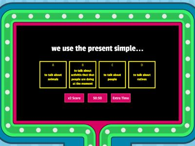 present simple/continuous
