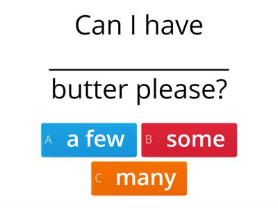 1 QUANTIFIERS / DETERMINERS EXERCISES - much/many/a lot of/some/any/(a)few/(a)little