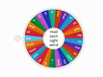 25 Sight Words