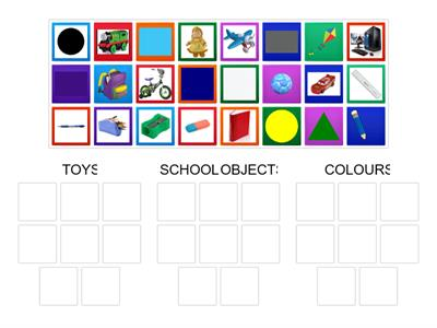 TOYS - SCHOOL OBJECTS - COLOURS