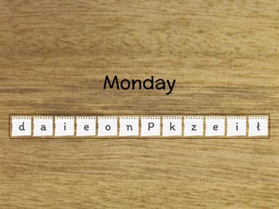 Days of the week anagram