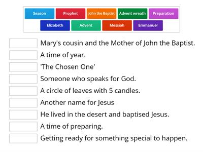 Advent Vocab