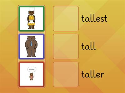 Arrange the bears from small to smallest, and arrange the balls from big to biggest.
