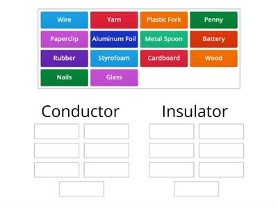 Conductors and Insulators of Electricity