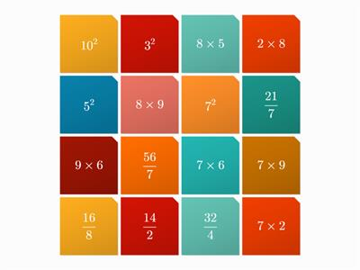 Multiplication & Division tiles