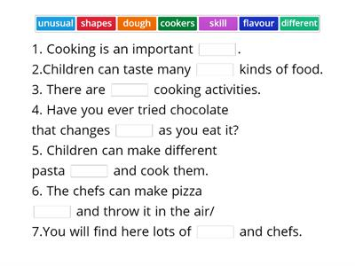 p 56 vocabulary a celebration of cooking