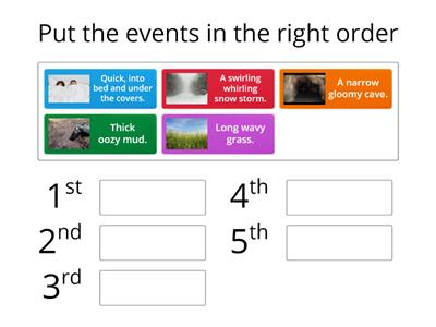 TLC: Can I order events in a story?