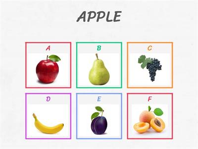 FRUIT and VEGETABLES beginners