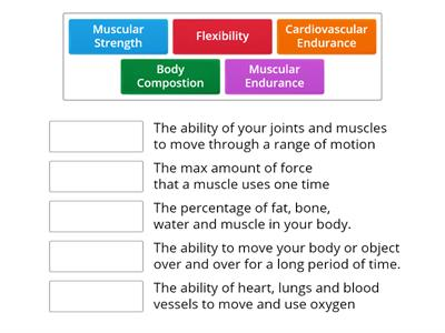 5 Components of Health Related Fitness