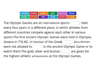 THE OLYMPICS - facts