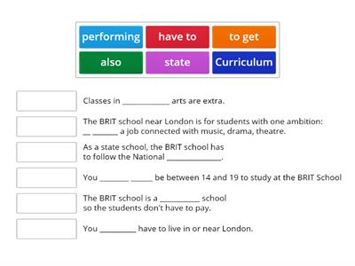 Brit School (Unit 2B)