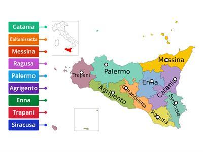 Cartina Sicilia Province.Province Sicilia Risorse Per L Insegnamento