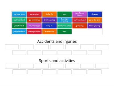 7 Accidents and injuries / keeping fit