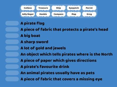 Pirate vocabulary matching