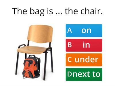 PU1 U1 p9 Prepositions on, in, under, next to; classroom objects