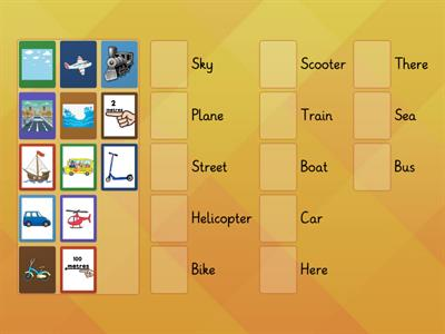 3.8. Transportation -Match the Pictures