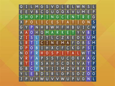Wordsearch: city words