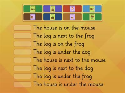 Prepositions on under next to