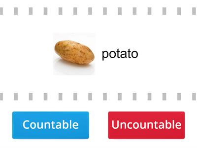 FOOD Countable and Uncountable nouns