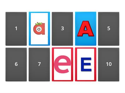 vowel memory game
