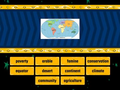 Geography key words (Africa) easy