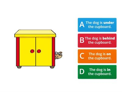 Beep 2 - KIDS STARTER - Unit 1 - Prepositions