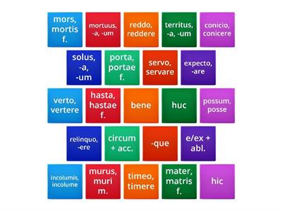Latin OLC Vocabulary Box 8