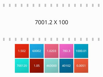 Multiply by 10, 100, 1000 Tiles 3