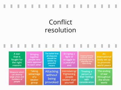 Peace and Conflict Keywords