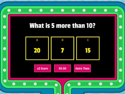 Game Show Quiz Addition
