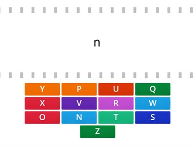 Matching Alphabet N-Z, upper to lower case
