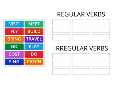 REVIEW FOR THE EXAM VERBS IN PAST REGULAR AND IRREGULAR