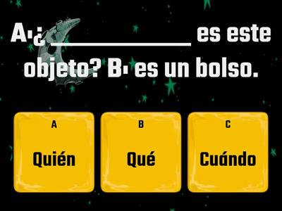 Question words in Spanish quiz