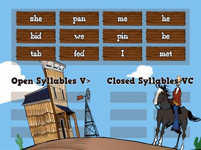 open or closed syllables
