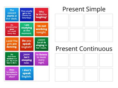 Copy of Present Simple vs. Present Continuous