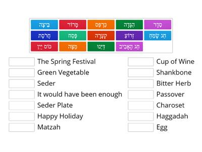 Passover Vocabulary Game