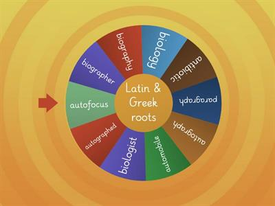 Latin & Greek roots - auto - bio - graph