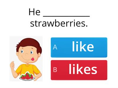 Likes/doesn't like