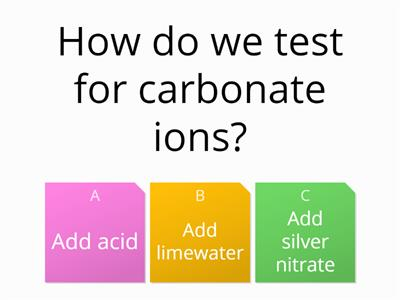 Negative Ions quiz