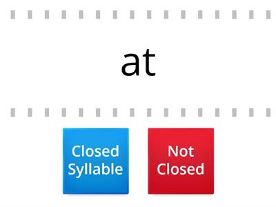 Closed Syllable or Not Closed